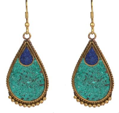 Divitha Allure crushed stone teardrops. Alloy Drop Earring