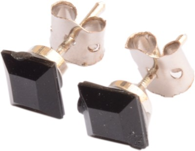 Foppish Mart Small Square Beads Stainless Steel Stud Earring