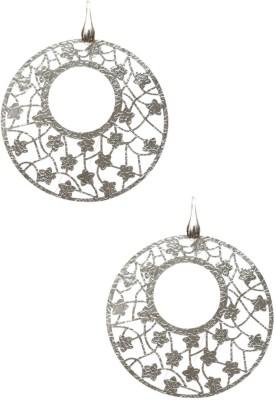 LeCalla Italian Flowery Mesh Sterling Silver Dangle Earring