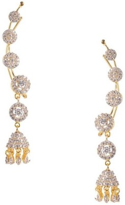 Jewels Galaxy Cubic Zirconia Alloy Cuff Earring at flipkart
