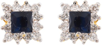 Vanshika Jewels Elegant Blue Stone Alloy Stud Earring