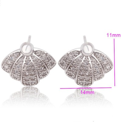 Aahna- Designer Jewellery Lavishing Cubic Zirconia Copper Stud Earring