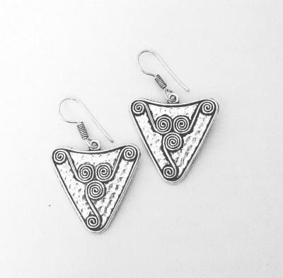 Bling-Bling Triangle Shape Alloy Drop Earring