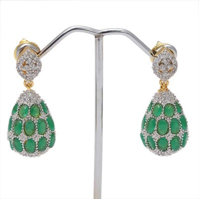 Jewar Mandi Latest Jewellary Cubic Zirconia Alloy Drop Earring