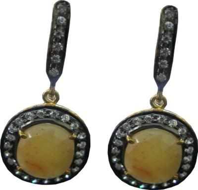 Aashirwad Sapphire, Cubic Zirconia Sterling Silver Drop Earring