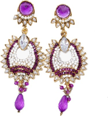 NM Products Purple Alloy Drop Earring