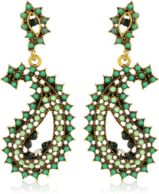 Moedbuille Ethnical And Traditional Leaf Design Alloy Drop Earring