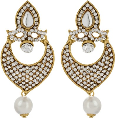 Starindia Studded Alloy Chandbali Earring