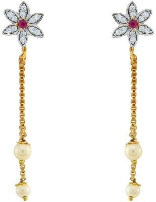 Jewlot Ravishing AD 2004 Brass Drop Earring