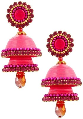 Halowishes Awesome Drop Handcrafted Double Jhumka Paper Jhumki Earring