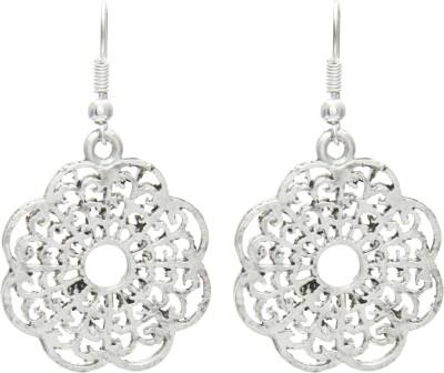 Galz4ever Silver Flower Alloy Drop Earring