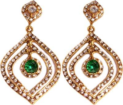 Triumphin Light Weight Maple Crystal Brass Drop Earring