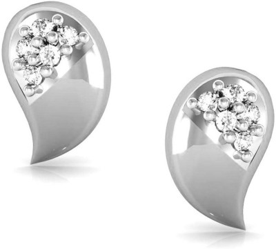 Avsar Mamata Yellow Gold 14kt Swarovski Crystal Stud Earring
