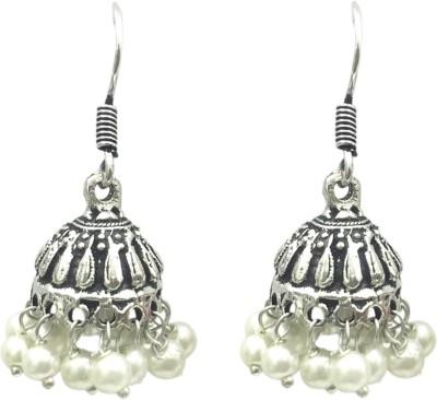 Ijuels Forever Vogue Casual HIt Crystal Metal Jhumki Earring