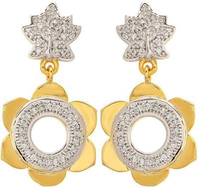 Apollodiamonds Beautiful Dangler Cubic Zirconia Alloy Drop Earring