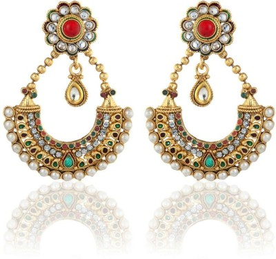 Sale Funda Dangle er0025 Crystal, Pearl Alloy Chandbali Earring