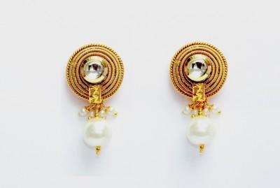 TavishJewelry Kundan Delight Copper Drop Earring