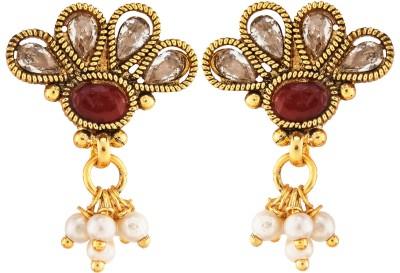 Aashvi Creation Beads Copper Drop Earring
