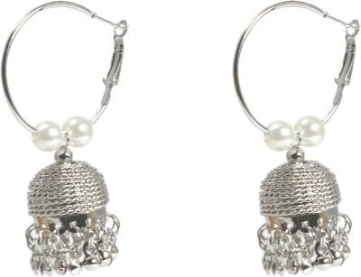 Kenza American Diamond Jhumki Alloy Hoop Earring