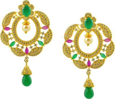 Maalyaa fashionable Brass, Copper Drop Earring