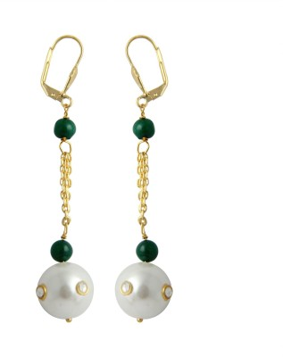 Pearlz Ocean Stimulating Pearl, Jade Alloy Clip-on Earring