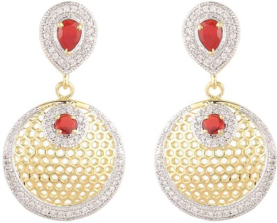 Dazzle Collections Shining Diva Alloy Drop Earring