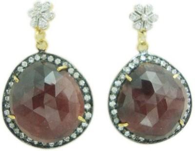 The Gems Gallery TGG-EAR-8555049851161-Multicolor Silver Drop Earring