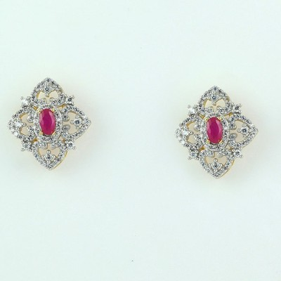 SuperShine jewelry Sparkle Brass Stud Earring