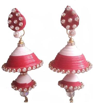Hmb Glossy Finish with stunning stoned Paper Jhumki Earring