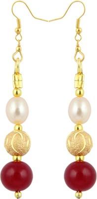 Pearlz Ocean Persuade Pearl, Quartz Alloy Dangle Earring
