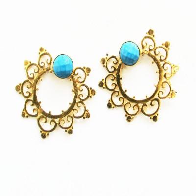 Bhrti designer studs Brass Stud Earring