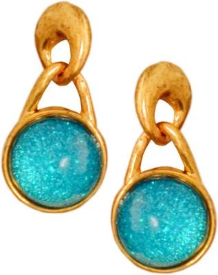 Gold & More Greenish Blue Alloy Drop Earring