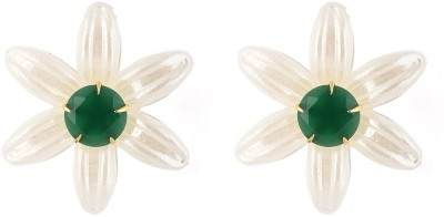 Be You Changeable Ruby, Emerald, Zircon, Mother of Pearl Mother of Pearl Stud Earring