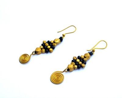 Art Godaam Dhokra tribal Brass Tassel Earring