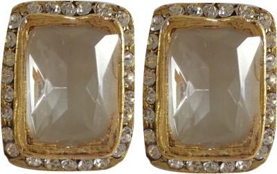 Jasveen Jewellery Crystal Square,Diamond Earrings Metal Earring Set