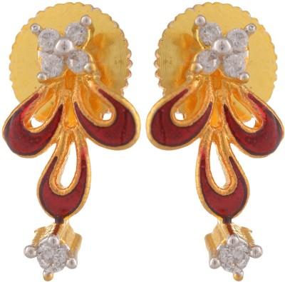 Bohocraft Petite Zircon Brass Stud Earring