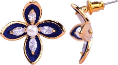 Maisha Royal blue and Gold. Alloy Stud Earring