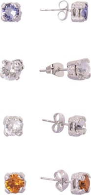 Kuhuk sparkling dots Cubic Zirconia Alloy Earring Set