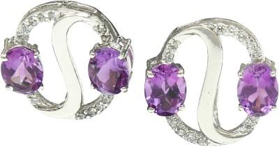 Angel Jewels Spring Sparkle Amethyst Silver Stud Earring