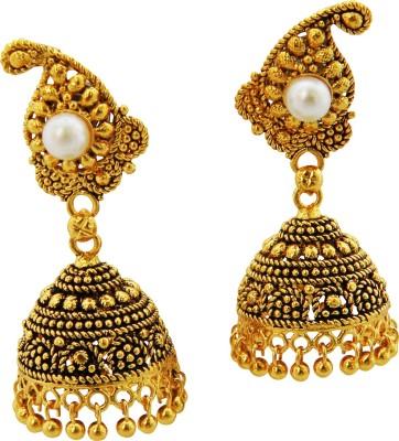 Shreyadzines Golden sparkle Alloy Jhumki Earring