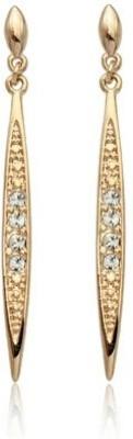 Wearyourfashion Austrian Golden Sparkle Cubic Zirconia Alloy Drop Earring