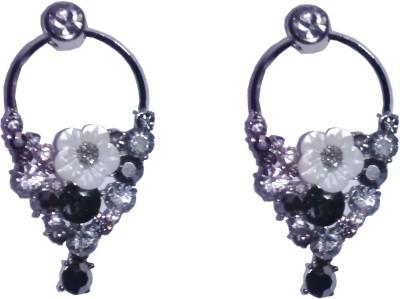 shrungarika Flower Alloy Hoop Earring, Drop Earring