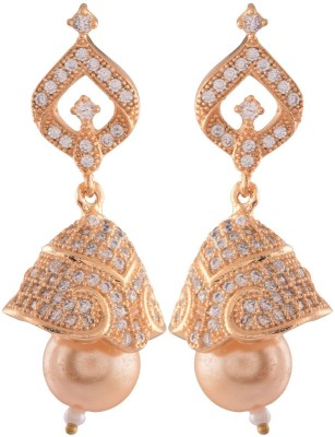 Ganapathy Gems Spring sparkle Cubic Zirconia Copper Jhumki Earring