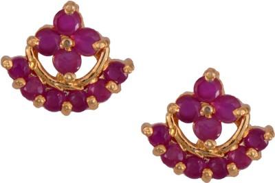 Mahaveer Pearls Romantic Pink Brass Stud Earring