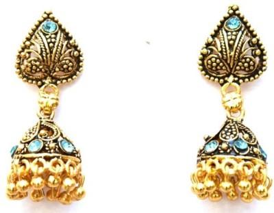 Jodhpuriyas GGP-409(C) Brass Chandelier Earring