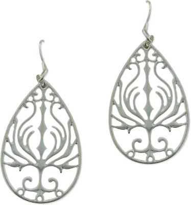 Fabula Silver Floral Filigree Traditional Ethnic Jewellery for Women, Girls & Ladies Metal Dangle Earring