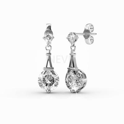 Nevi Elegant Crystal, Swarovski Crystal Metal, Crystal, Brass Drop Earring