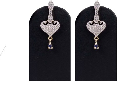 Hotpiper Royal AD Zircon, Ruby Alloy Chandbali Earring