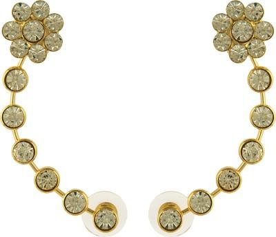 Pankh Diamond Studded Brass Cuff Earring