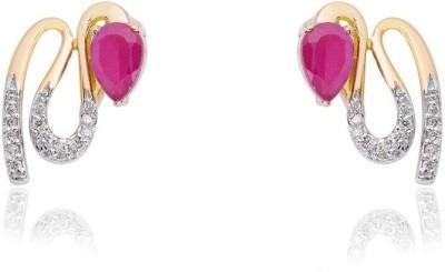 Jewels Choice Fancy Design Diamond Gold Stud Earring